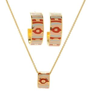 Samuel B gold plated necklace & earrings set